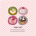 Cake card Royalty Free Stock Photos