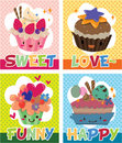 Cake card Stock Image