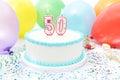 Cake Celebrating 50th Birthday Royalty Free Stock Photo
