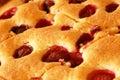 Cake with cherries and raspberries Stock Image