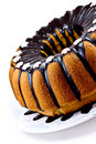 Cake with chocolate sause Royalty Free Stock Photography