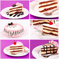 Cake collage Stock Images