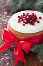Cake with cranberries Royalty Free Stock Images