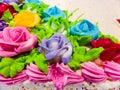 Cake cream rose in anniversary of supermarket in local banglamung chonburi Stock Photo
