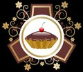 Cake emblem vector Stock Images