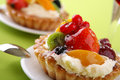 Cake with fresh fruits Stock Image