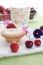 Cake with fresh fruits decoration Stock Photos
