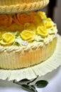 Cake with Frosting Roses Stock Image