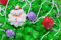Cake icing and decorations Royalty Free Stock Photography