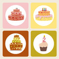 Cake icons Royalty Free Stock Photo