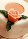 Cake with marzipan roses close up Stock Image