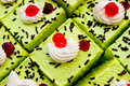 Cake Pandan leaf Stock Photo