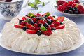 Cake Pavlova. Royalty Free Stock Photography