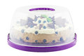 Cake plate cover with tart