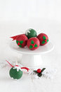 Cake Pops for Christmas Royalty Free Stock Photo