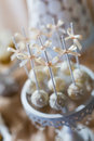 Cake pops and cupcakes wedding Stock Images