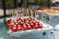 Cake pops at outdoor wedding Royalty Free Stock Image