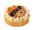 Cake with prunes and walnuts Royalty Free Stock Photo