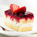 Cake with red fruits Royalty Free Stock Image