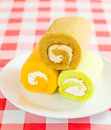Cake roll ake and some of bakery Royalty Free Stock Photography