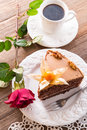 Cake with roses Royalty Free Stock Photo