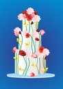 Cake with roses,