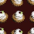 Cake seamless texture pattern with Stock Photo