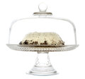 Cake on a serving platter Royalty Free Stock Images