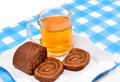Cake sliced ​​on a plate for tea Stock Images