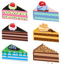 Cake slices Stock Photos