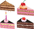 Cake slices Stock Photo