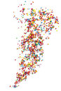 Cake Sprinkles Scattered over White Background Royalty Free Stock Photo