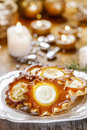 Cake in star shape christmas eve mood selective focus Royalty Free Stock Images
