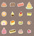 Cake stickers Stock Photos