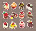 Cake stickers Royalty Free Stock Photo