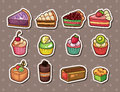 Cake stickers Royalty Free Stock Images