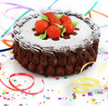 Cake with strawberry Royalty Free Stock Images