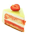 Cake with strawberry and lime  isolated Royalty Free Stock Photo