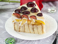 Cake with sweet cherry Royalty Free Stock Photography