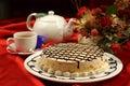 cake and tea Royalty Free Stock Photo
