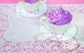 Cake in a tea cup Royalty Free Stock Photo