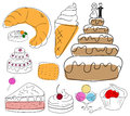 Cakes collection Royalty Free Stock Photo