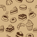 Cakes And Desserts Seamless Pattern Royalty Free Stock Images