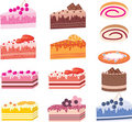Cakes, pieces of pies, sweets Royalty Free Stock Photo