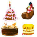 Cakes set Royalty Free Stock Image