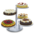 Cakes various types of on white Royalty Free Stock Photo
