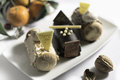 Cakes vittoria cake treat brown delicious stock photo Royalty Free Stock Photos