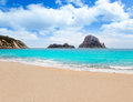 Cala d Hort Ibiza beach Es Vedra island Royalty Free Stock Photos