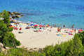 Cala dels Vienesos beach, in Miami Platja, Spain Royalty Free Stock Photography