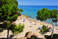 Cala dels Vienesos beach, in Miami Platja, Spain Stock Photography